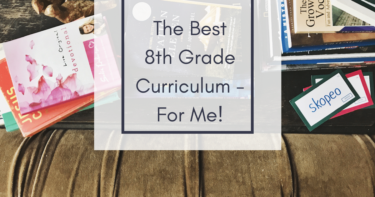 Middle School Math, Middle School Reading, and 8th Grade Curriculum.