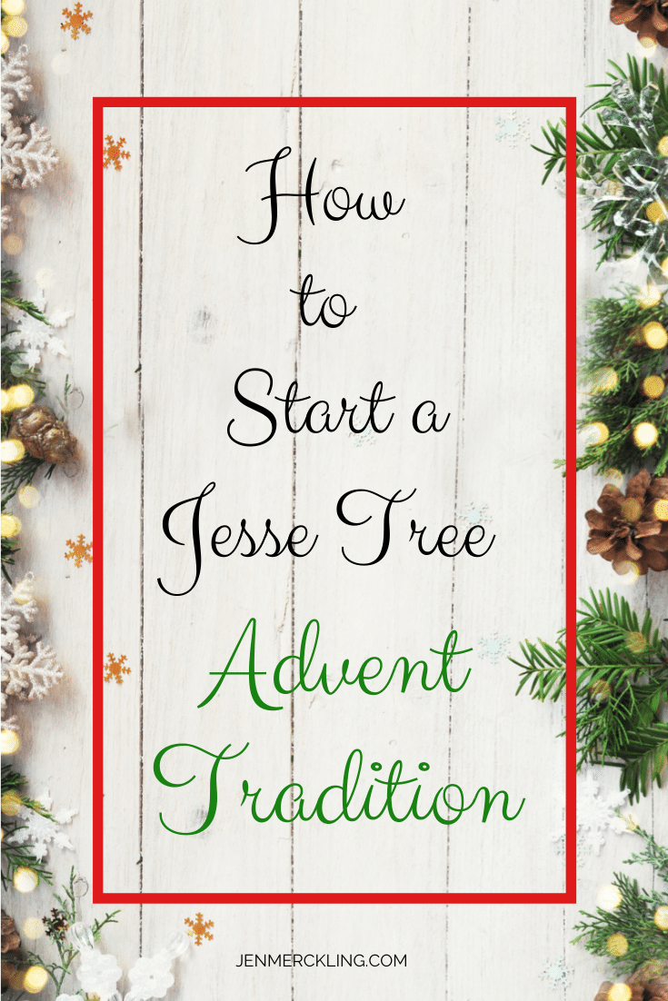 Start a new advent tradition! Learn how to make a Jesse Tree with simple ornaments & keep the focus on Jesus this Christmas! #jessetree #advent #tradition #familytradtion #diy