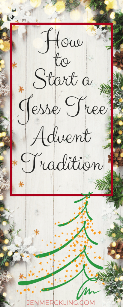 Countdown to Christmas with a Jesse Tree! Celebrate Advent with symbolic ornaments connected to daily scripture readings--start a new family tradition!