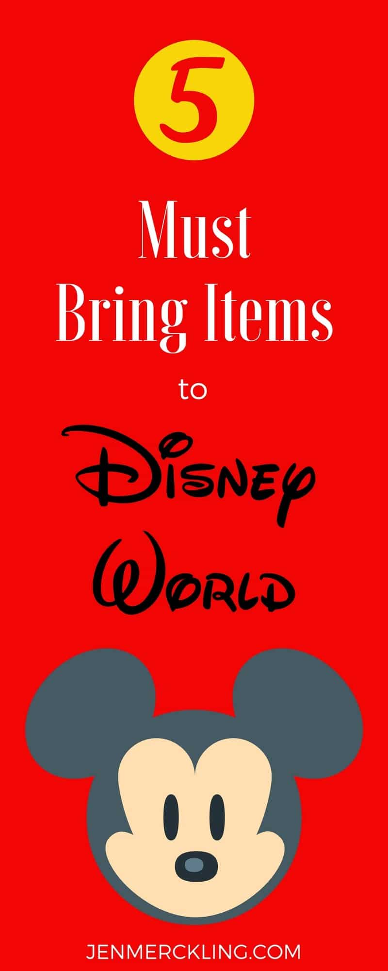 5 must bring items to Disney World! I'm sharing my favorite items to save you time and money on your Disney Vacation and help you plan a great trip!