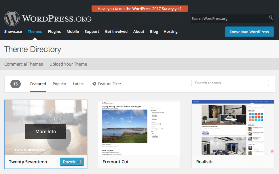 Free WordPress Theme Directory. Find a free theme from the WordPress community.