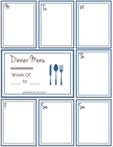 After 14 years, I've learned some simple tips for getting my home and homeschool organized, and I've created a planner to help you get organized too! Here's my Dinner Planning Guide!