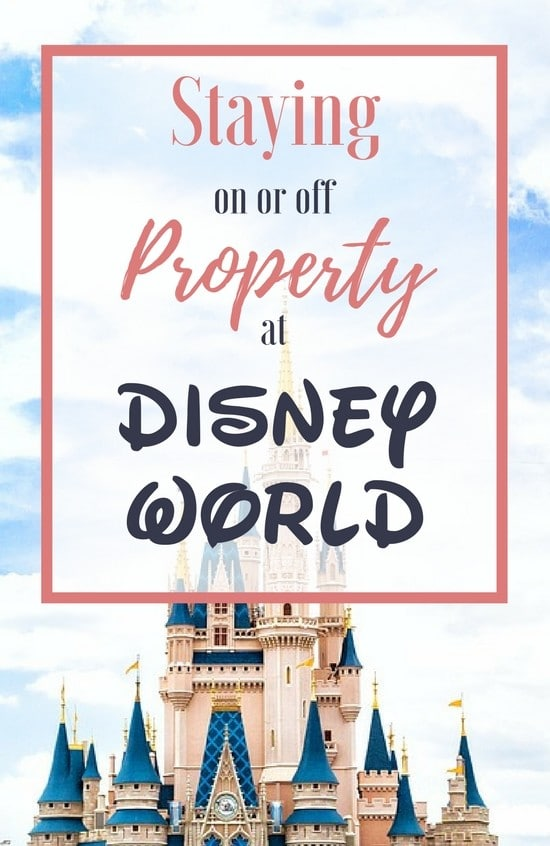 Staying on or off Disney property is one of your first decisions when planning a Disney World vacation! Here's the pros and cons we've discovered!