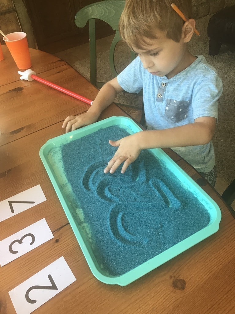Using a sand tray