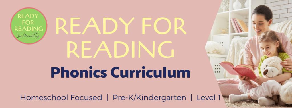 Kindergarten homeschool reading curriculum