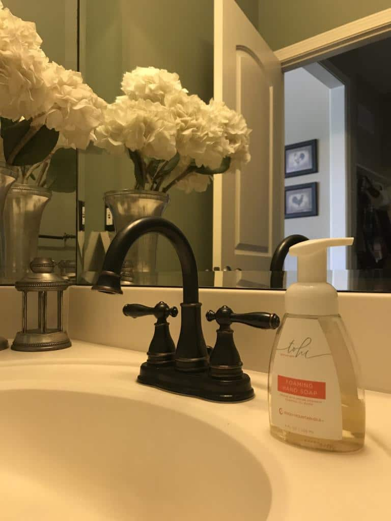 Bathroom with Tohi Foaming Hand Soap