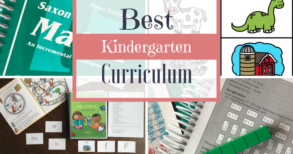Homeschool Kindergarten Reading Curriculum