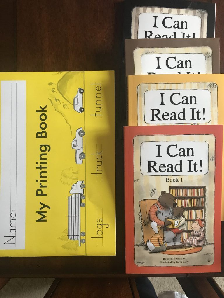 I love learning what curriculum other homeschool families are using with their kids! Here's a peek into what I'm using with with my 1st grade son (and why)! Here's our I Can Read It readers from Sonlight and Handwriting Without Tears workbook!