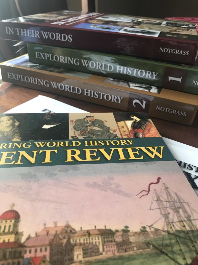 Let's talk homeschooling high school! Here are my homeschool 9th grade curriculum choices--old favorites and new curriculum picks! (Here is Notgrass History!)