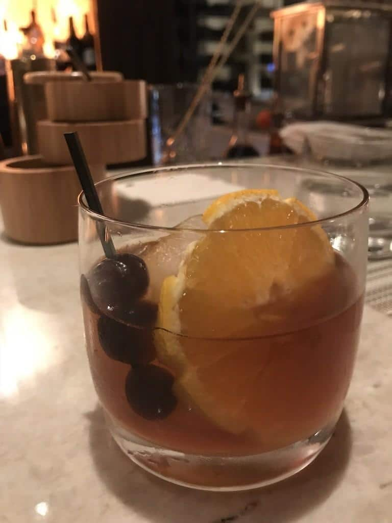 Smoked Manhattan at Ario Restaurant Bar at the JW Marriott Marco Island