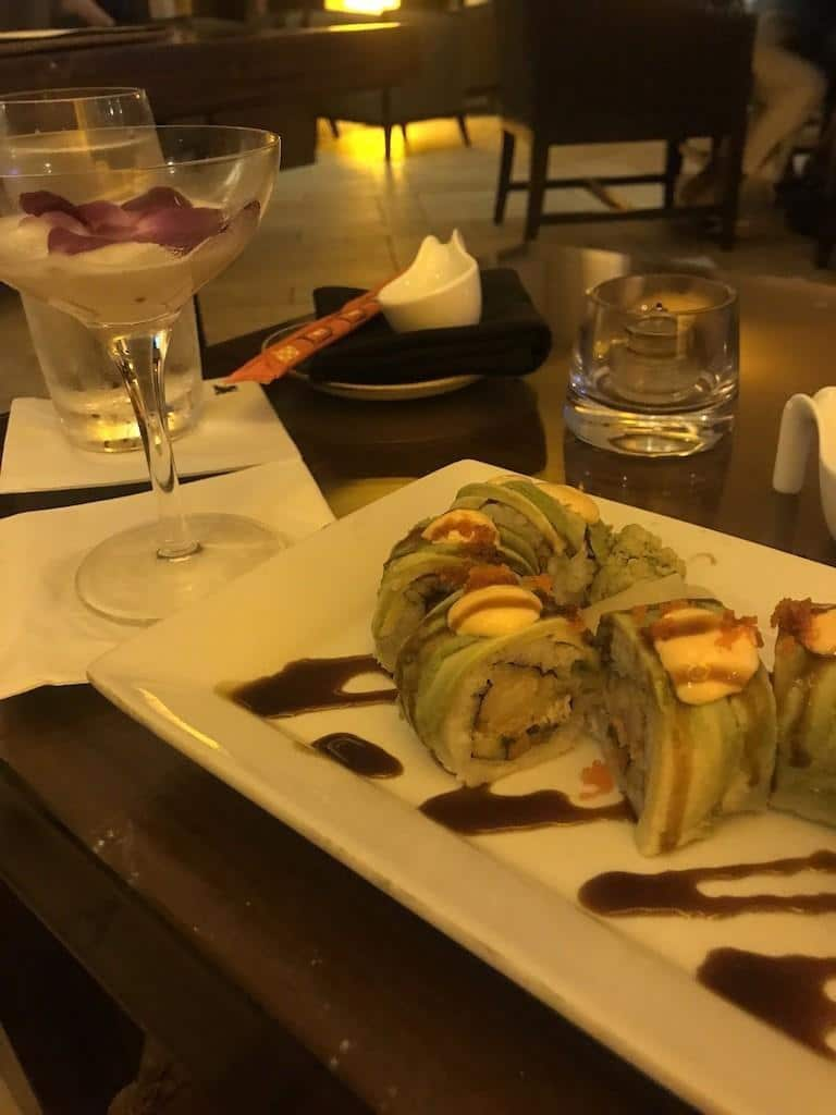 Sushi at Korals in the JW Marriott Marco Island Beach Resort