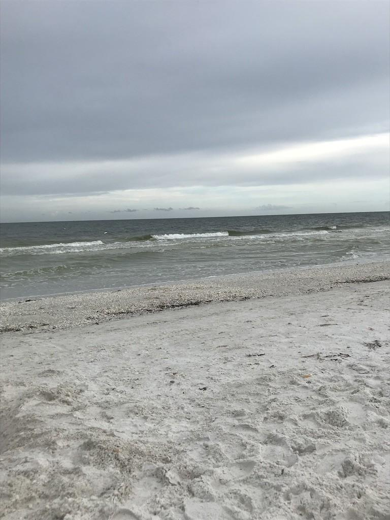 Storm coming in on the beach at the JW Marriott Marco Island Beach Resort