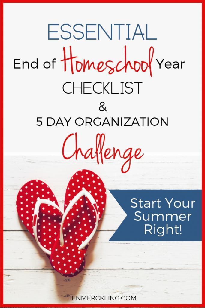 Homeschool Organization Challenge