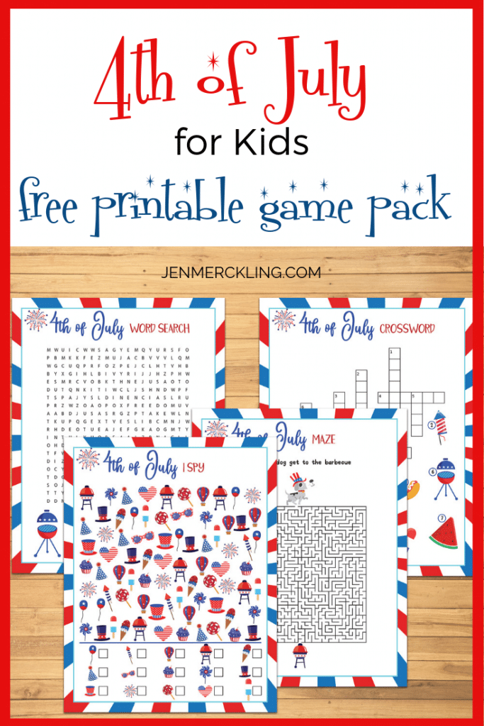 4th of July Printable Games