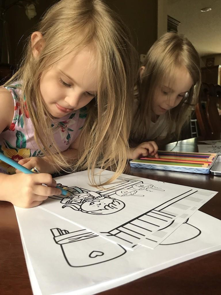 Twins Coloring Goldilocks and The Three Bears coloring pages