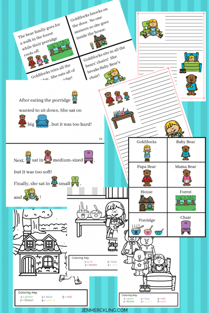 Goldilocks and The Three Bears Printable Activities for Kids