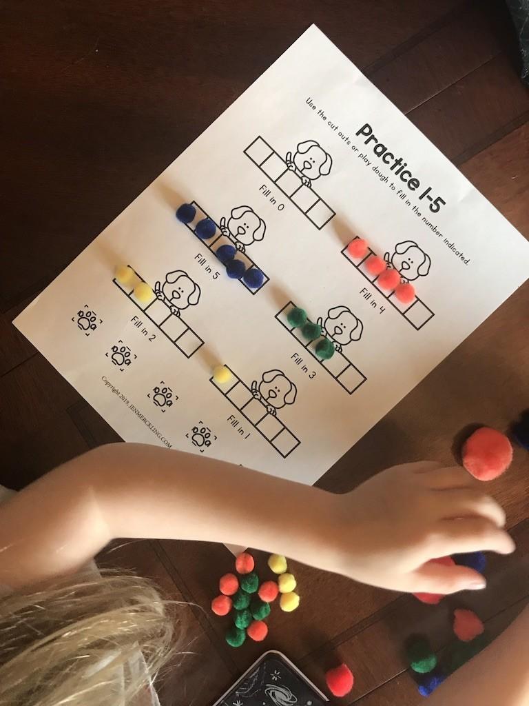 Free Preschool Math Practice Worksheet