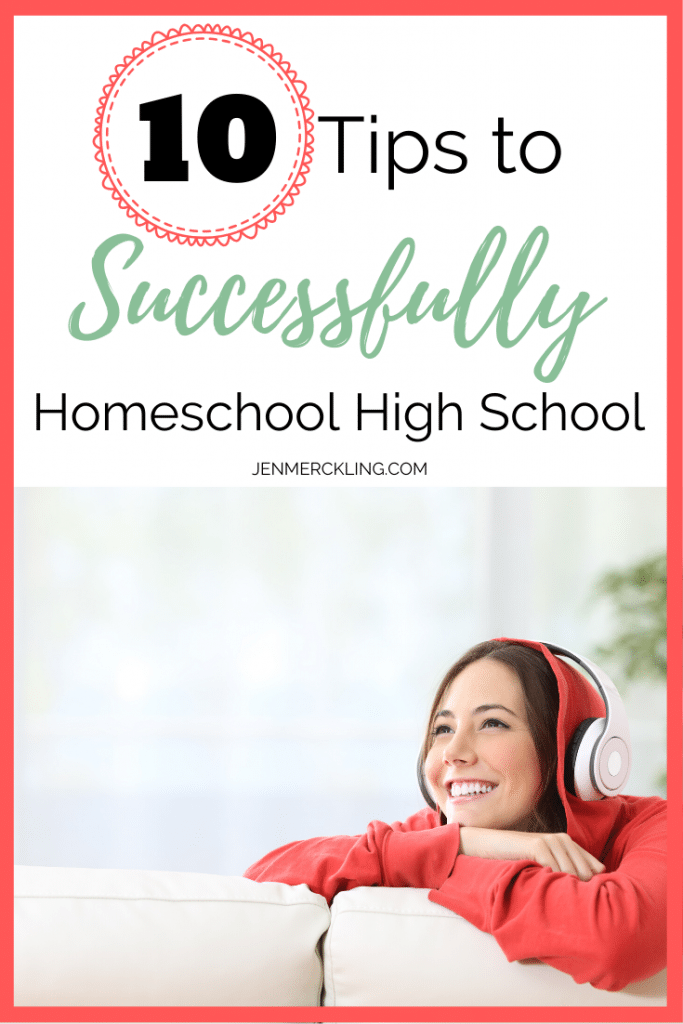 Don't miss these 10 BEST Tips to Successfully Homeschool High School! Give your teen the life skills they need to succeed & achieve their dreams! #homeschool #highschool #howtohomeschool #tips #homeschoolhighschool