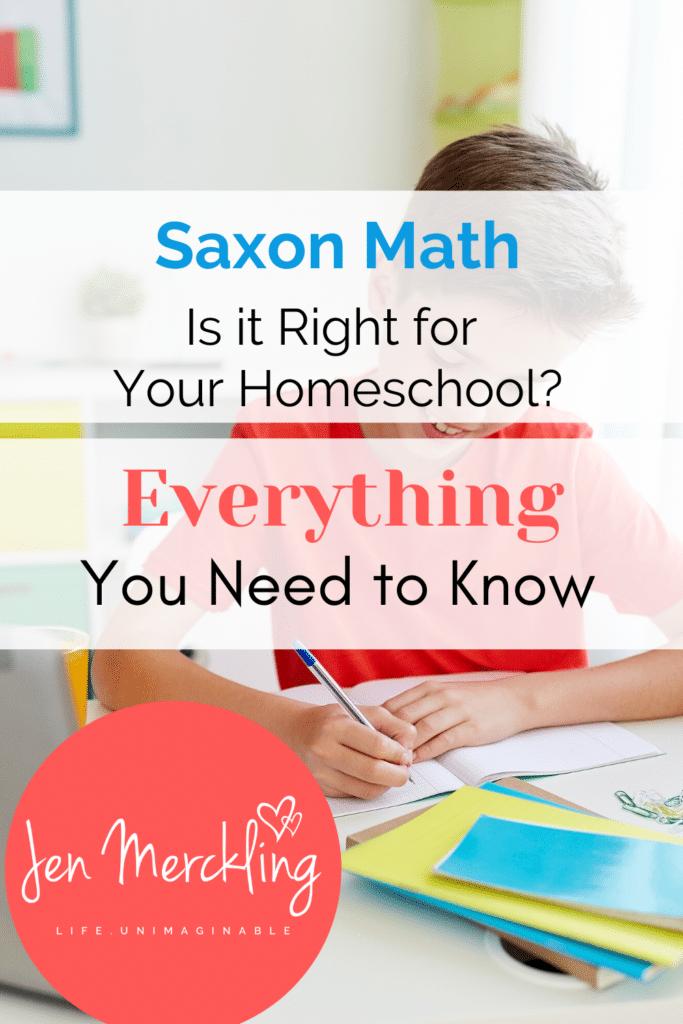 Saxon Homeschool Math Curriculum