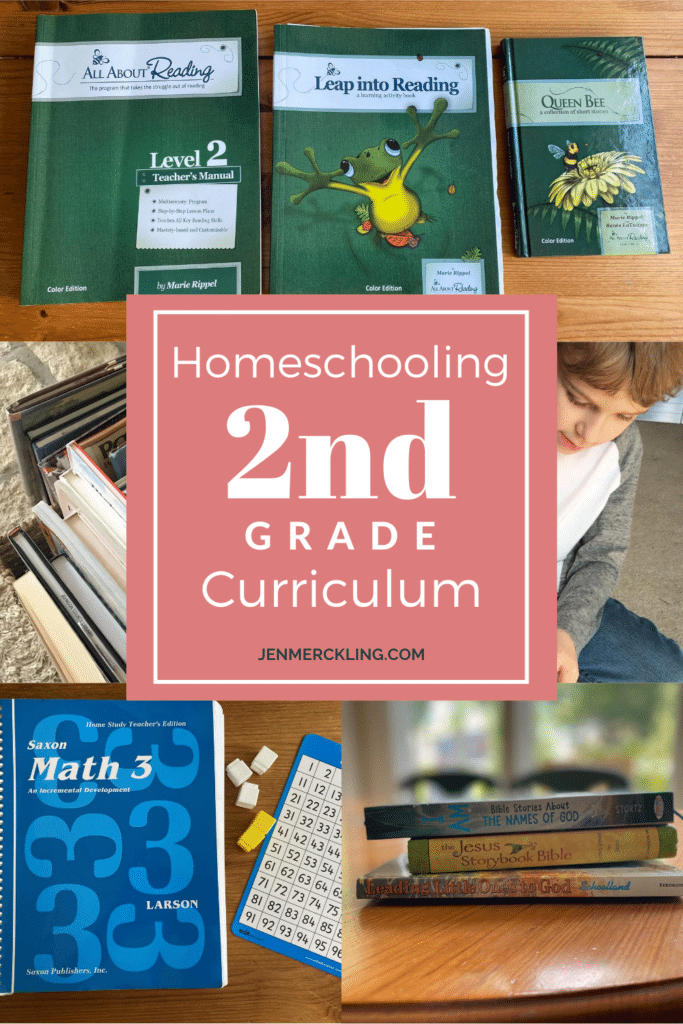 2nd Grade Homeschool Curriculum: All About Reading Level 2, Saxon Math 3, Morning Basket, and Bible Study